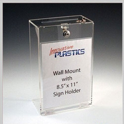 Wall Mounted Transparent Signage