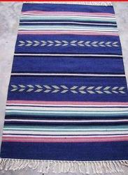 Blue Striped Chinelle Durries, Size: 120x 220 cm