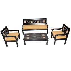 Triable Art & Jali Colonial Sofa Set