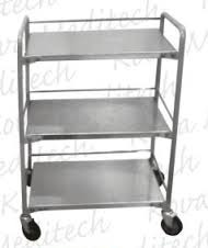 Three Shelves Instrument Trolley