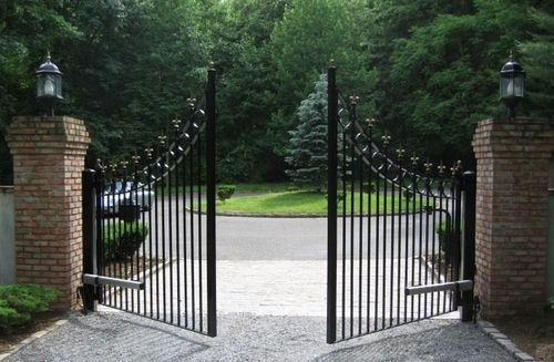 powder driveway company large ca residential fence automated custom gate coated providing sonoma swing county style a gates is commercial white and iron double ornamental difranco western contractor