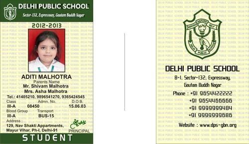 School Identity Card at Rs 11   School Id Card   ID: 8225881512