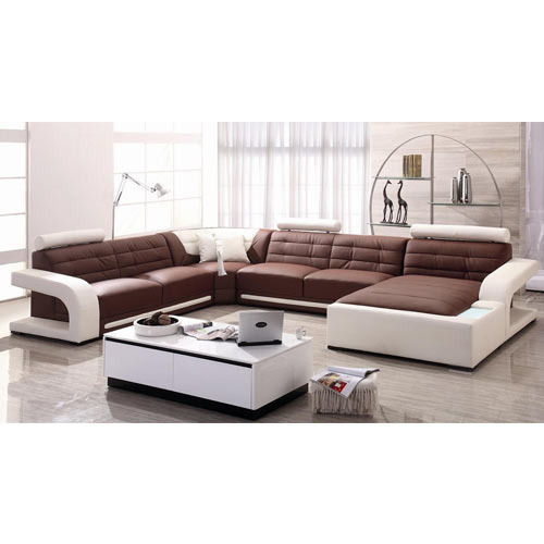 20 Best Collection Of White Leather Corner Sofa: Creative Modern Sectional Sofa Manufacturer From Mumbai