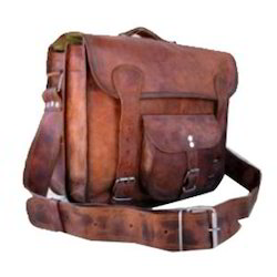 Front Pocket Leather Satchel Bag