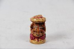 Wooden Painted Ganesha