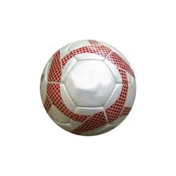 Red and White Soccer Ball