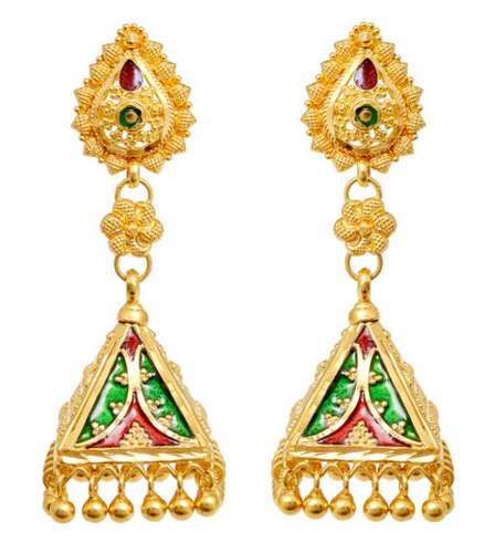 Retailer of Gold Earrings & Gold Rings by Grt Jewellers Bengaluru