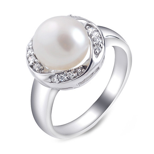 ff2ed181d43b9 Silver Pearl Ring at Best Price in India