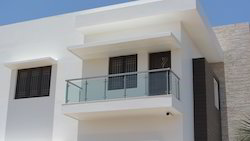 Glass Handrails with Balusters