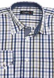 Cairon Khaki Check Smart Formal Shirt