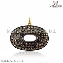 Diamond Round Shape Charm Pendant Jewelry
