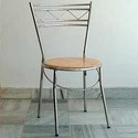 Dining Stainless Steel With Wooden Chair