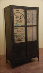 Iron Cabinet with Recycled Panel