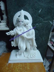 Religious Marble Radha Krishna Statue