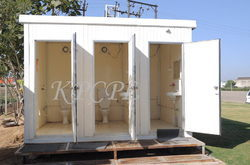 PUF Portable Toilet Block