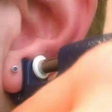 Ear Piercing With Gun