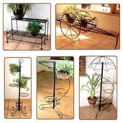 Wrought Iron Garden Plant Pot Stands