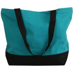 Strap Blue + Black Shopping Boat Bag, Size: 19