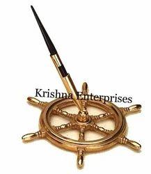 Wheel Nautical Pen Holder