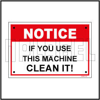 590902 Notice Sticker - Clean Machine
