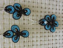Fashion Earring Pendant Set Blue Drops