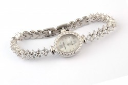 Silver Diamond Ladies Watch