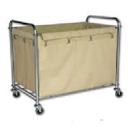 Steel Frame Rectangular Laundry Cart
