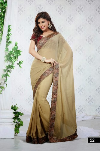 Glamorous Simple Elegant Designer Sarees, Cotton Sarees - Rajshri ...