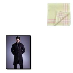 Border Fabric Handkerchief for Mens