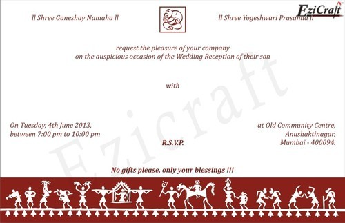 Warli Desinger Wedding Cards Warli Invitation Cards