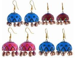 Terracotta Jhumkas Unique and Earthy Designs