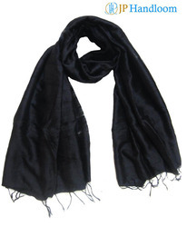 Pure Mulberry Silk Black Dyed Stole