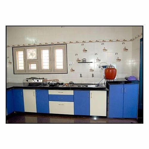 Straight Modular Kitchen 8 Square Modular Kitchens: Straight Modular Kitchen At Rs 850 /square Feet