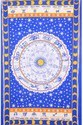 Blue Zodiac Signs Hippie Tapestry