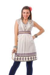 Cotton & Georgette Round Neck Party Wear Tunic