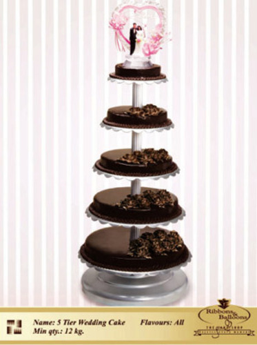 5 Tier Wedding Cake Fancy Cakes Santacruz West Mumbai Ribbons