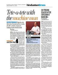 Interview With Hindustan Times