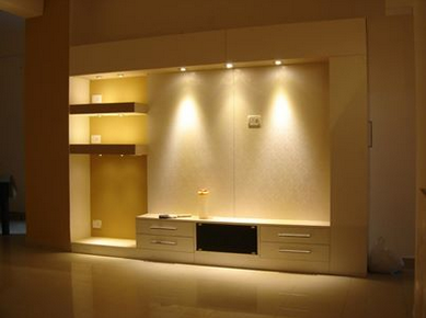 Living Room TV Unit Interior Design Service