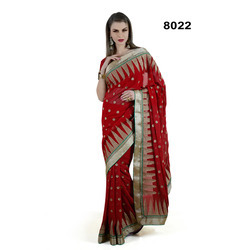 Bridal Blended Chiffon Border Sarees