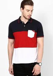 Navy Stripper Polo T-Shirts