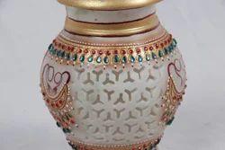 Marble Half Jaali Pot