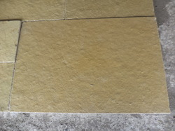 Tumbled Yellow Lime Stone Slab