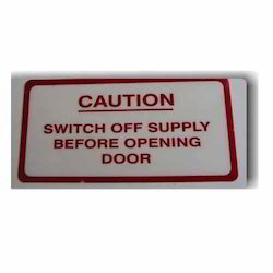 Caution Electrical Panel Label