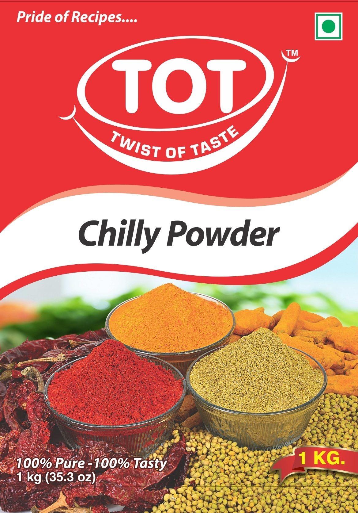 TOT Chilli Powder (Lal Mirchi Powder), Packaging Size: 1 ...