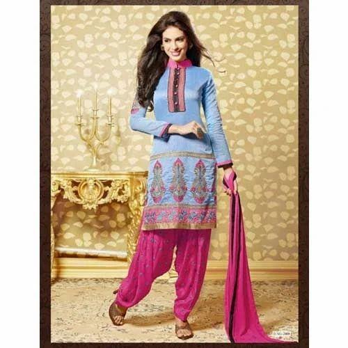 850805f78b Designer Chanderi Cotton Dress Material, Dress Material - Fashion ...