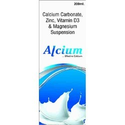 Calcium Carbonate Zinc Vitamin D3 and Magnesium Suspension