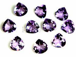 Amethyst Faceted Heart Gemstone