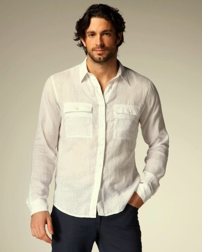 c91b38caf4193 White Linen Shirt