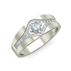 Gli Certified Natural Diamonds Solitaire Ring