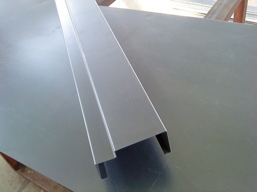 steel door frame section